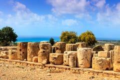 Καταστροφές του αδύτου Aphrodte στη Κύπρο Στοκ Φωτογραφία