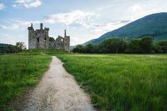 Καταστροφές του εγκαταλειμμένου κάστρου Kilchurn, Σκωτία, UK στοκ φωτογραφίες με δικαίωμα ελεύθερης χρήσης