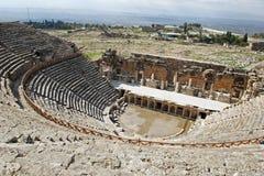 Καταστροφές του θεάτρου σε αρχαίο Hierapolis Στοκ Εικόνα