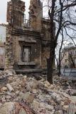 Καταστροφές του ιστορικού ιστορικού σπιτιού Massons σπίτι που καταστρέφεται παλαιό χ στοκ φωτογραφίες