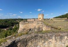 Καταστροφές του κάστρου σε Carlux στην κοιλάδα Dordogne, Aquitaine στοκ φωτογραφία με δικαίωμα ελεύθερης χρήσης