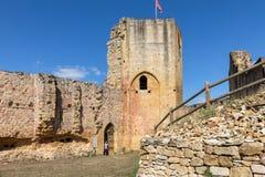 Καταστροφές του κάστρου σε Carlux στην κοιλάδα Dordogne, Aquitaine, στοκ φωτογραφίες με δικαίωμα ελεύθερης χρήσης
