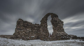 Καταστροφές του κάστρου σε Rezekne, Λετονία Στοκ φωτογραφίες με δικαίωμα ελεύθερης χρήσης