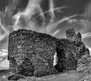 Καταστροφές του κάστρου Criccieth Στοκ Εικόνες