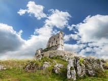 Καταστροφές του μεσαιωνικού κάστρου, Πολωνία στοκ φωτογραφία με δικαίωμα ελεύθερης χρήσης