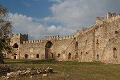 Καταστροφές του μεσαιωνικού κάστρου Mamure στοκ φωτογραφίες με δικαίωμα ελεύθερης χρήσης