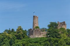 Καταστροφές του μεσαιωνικού κάστρου Windeck στην πόλη Weinheim στοκ φωτογραφία