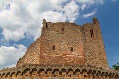 Καταστροφές του μεσαιωνικού κάστρου Windeck στην πόλη Weinheim στοκ εικόνα
