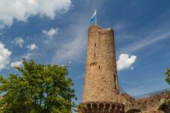 Καταστροφές του μεσαιωνικού κάστρου Windeck στην πόλη Weinheim στοκ εικόνες