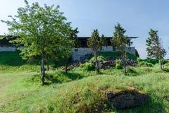 Καταστροφές του μεσαιωνικού οχυρό-κάστρου Maasi, νησί Saaremaa, Εσθονία Στοκ φωτογραφία με δικαίωμα ελεύθερης χρήσης