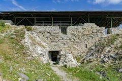 Καταστροφές του μεσαιωνικού οχυρό-κάστρου Maasi, νησί Saaremaa, Εσθονία Στοκ Εικόνα