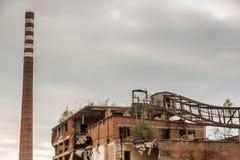Καταστροφές του μύλου εγγράφου - Kalety, Σιλεσία, Πολωνία Στοκ φωτογραφία με δικαίωμα ελεύθερης χρήσης