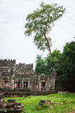 Καταστροφές του ναού Pra Khan σε Angkor Thom της Καμπότζης Στοκ φωτογραφίες με δικαίωμα ελεύθερης χρήσης