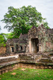 Καταστροφές του ναού Pra Khan σε Angkor Thom της Καμπότζης Στοκ Εικόνα