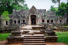 Καταστροφές του ναού Pra Khan σε Angkor Thom της Καμπότζης Στοκ φωτογραφία με δικαίωμα ελεύθερης χρήσης