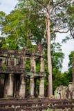 Καταστροφές του ναού Pra Khan σε Angkor Thom της Καμπότζης Στοκ Φωτογραφίες
