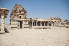 Καταστροφές του ναού Vittala σύνθετου, Hampi, Karnataka, Ινδία στοκ εικόνα με δικαίωμα ελεύθερης χρήσης