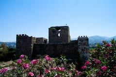 Καταστροφές του οχυρού σταυροφόρων σε Byblos σε Jubayl, Λίβανος Στοκ Φωτογραφίες