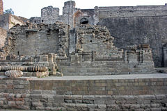 Καταστροφές του οχυρού Kangra, Himachal Pradesh, Ινδία Στοκ Φωτογραφίες