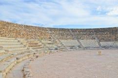 Καταστροφές του παλαιού θεάτρου στα κυπριακά σαλάμια, τουρκική βόρεια Κύπρος Τα σαλάμια ήταν πόλη κράτος αρχαίου Έλληνα στοκ εικόνες