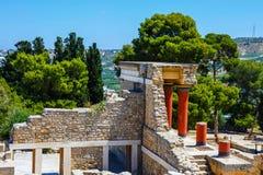 Καταστροφές του παλατιού Minoan της Κνωσού στην Κρήτη Στοκ φωτογραφία με δικαίωμα ελεύθερης χρήσης