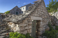 Καταστροφές του παραδοσιακού σπιτιού στη Δαλματία Στοκ Φωτογραφία