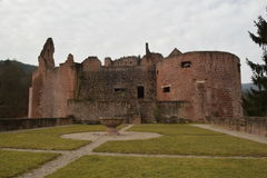 Καταστροφές του παλαιού κάστρου Hardenburg Στοκ φωτογραφία με δικαίωμα ελεύθερης χρήσης