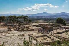 Καταστροφές του παλατιού Festa στο νησί της Κρήτης Ελλάδα Στοκ φωτογραφία με δικαίωμα ελεύθερης χρήσης
