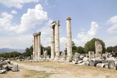 Καταστροφές του προηγούμενου ναού Aphrodite Στοκ εικόνα με δικαίωμα ελεύθερης χρήσης