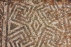 Καταστροφές του ρωμαϊκού πατώματος μωσαϊκών αυτοκρατοριών σε Ostia Antica - τη Ρώμη - τη Ita Στοκ Φωτογραφίες