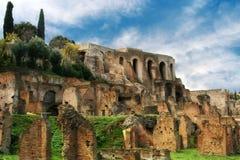 Καταστροφές του ρωμαϊκού φόρουμ, Ρώμη, Ιταλία Στοκ εικόνα με δικαίωμα ελεύθερης χρήσης