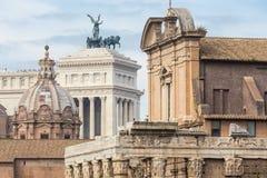 Καταστροφές του ρωμαϊκού φόρουμ στη Ρώμη, Ιταλία Στοκ εικόνες με δικαίωμα ελεύθερης χρήσης