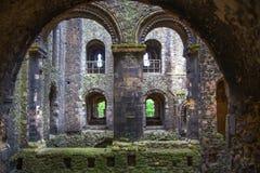 Καταστροφές του Ρότσεστερ Castle 12ες Castle και καταστροφές των οχυρώσεων Κεντ, νοτιοανατολική Αγγλία Στοκ εικόνα με δικαίωμα ελεύθερης χρήσης