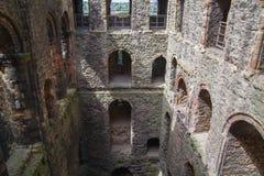 Καταστροφές του Ρότσεστερ Castle 12ες Castle και καταστροφές των οχυρώσεων Κεντ, νοτιοανατολική Αγγλία Στοκ Εικόνες