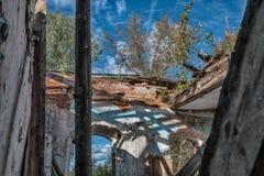 Καταστροφές του σπιτιού τούβλου Στοκ φωτογραφίες με δικαίωμα ελεύθερης χρήσης