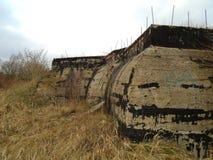 Καταστροφές του στρατιωτικού κτηρίου από το δεύτερο πόλεμο Κτήρια Armys στοκ φωτογραφία