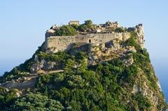 Καταστροφές του φρουρίου Angelokastro - νησί της Κέρκυρας, Ελλάδα Στοκ εικόνα με δικαίωμα ελεύθερης χρήσης