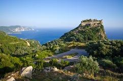 Καταστροφές του φρουρίου Angelokastro - νησί της Κέρκυρας, Ελλάδα Στοκ φωτογραφία με δικαίωμα ελεύθερης χρήσης