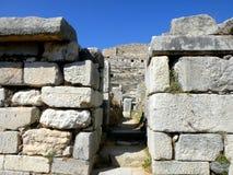 Καταστροφές του antic λιμανιού Milet, δευτερεύουσα Ασία, Τουρκία, ελληνική αποικία Στοκ Φωτογραφίες