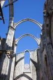 Καταστροφές του Carmo Gothic Church στη Λισσαβώνα Στοκ εικόνα με δικαίωμα ελεύθερης χρήσης