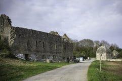 Καταστροφές του Castle στη βρετανική επαρχία, Anglesey, βόρεια Ουαλία, UK Στοκ φωτογραφίες με δικαίωμα ελεύθερης χρήσης