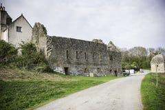 Καταστροφές του Castle στη βρετανική επαρχία, Anglesey, βόρεια Ουαλία, UK Στοκ Φωτογραφίες