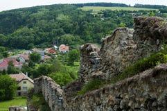 Καταστροφές του Castle Beckov - Σλοβακία στοκ εικόνες