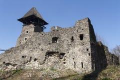 Καταστροφές του Castle Nevytske πλησίον του Transcarpathian κέντρου περιοχών, φωτογραφία Uzhgorod 13$ες χτισμένες nevitsky καταστ Στοκ Φωτογραφία