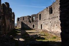 Καταστροφές του Castle Nevytske στη Transcarpathian περιοχή Φωτογραφία Uzhgorod Nevitsky Castle που ενσωματώνεται 13ος αιώνας Ουκ Στοκ εικόνες με δικαίωμα ελεύθερης χρήσης