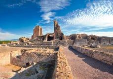 Καταστροφές του dei Quintili βιλών Ρωμαϊκό τοπίο επάνω στον τρόπο Appia στο Ρ Στοκ Φωτογραφίες