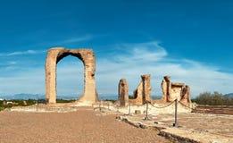 Καταστροφές του dei Quintili βιλών Ρωμαϊκό τοπίο επάνω στον τρόπο Appia στο Ρ Στοκ Εικόνες