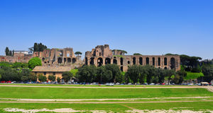 Καταστροφές του Domus Augustana στο υπερώιο Hill στη Ρώμη, Ιταλία Στοκ Εικόνα