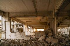 Καταστροφές των βιομηχανικών κτηρίων, εγκαταλειμμένη βιομηχανία στον ανατολικό Στοκ εικόνα με δικαίωμα ελεύθερης χρήσης