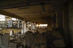 Καταστροφές των βιομηχανικών κτηρίων, εγκαταλειμμένη βιομηχανία στον ανατολικό Στοκ φωτογραφίες με δικαίωμα ελεύθερης χρήσης